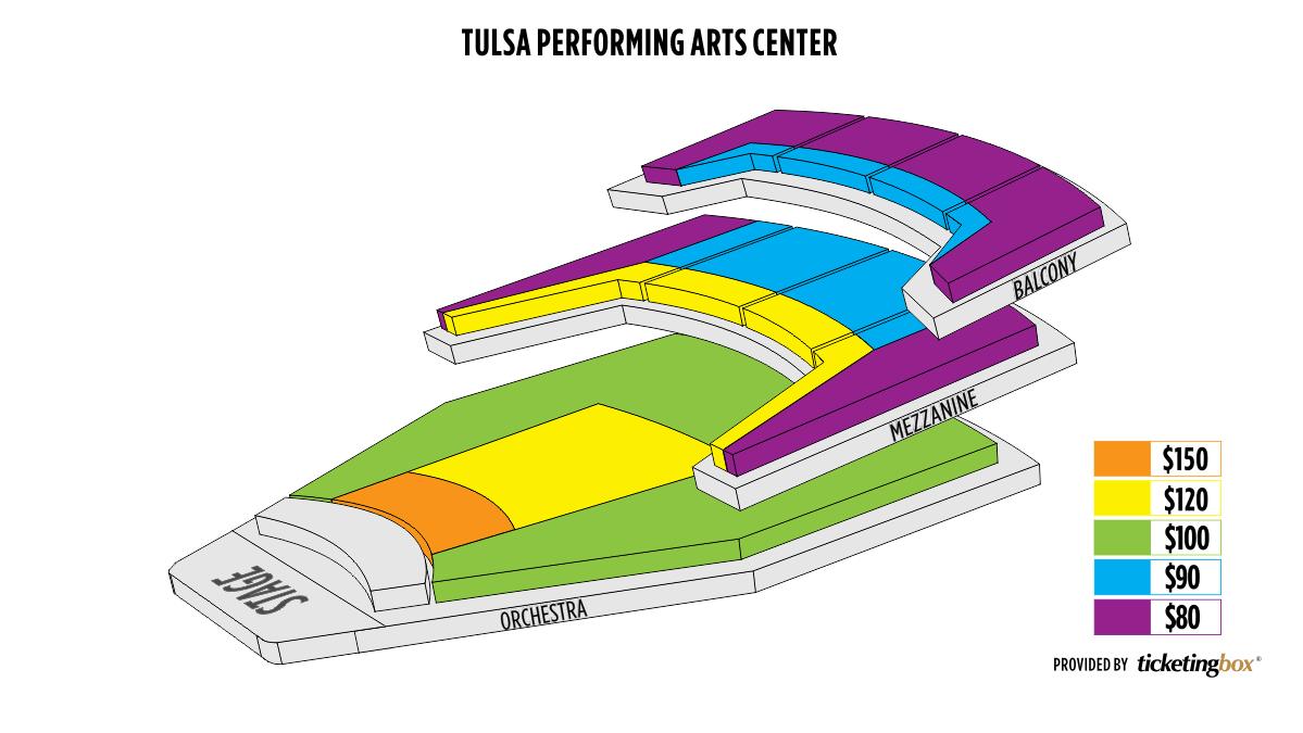 Seating Chart Tulsa Performing Arts Center Chapman Music Hall