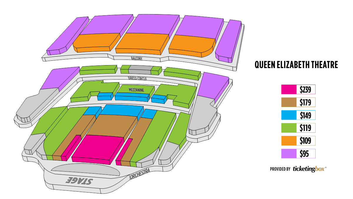vancouver queen elizabeth theatre seating chart. Black Bedroom Furniture Sets. Home Design Ideas
