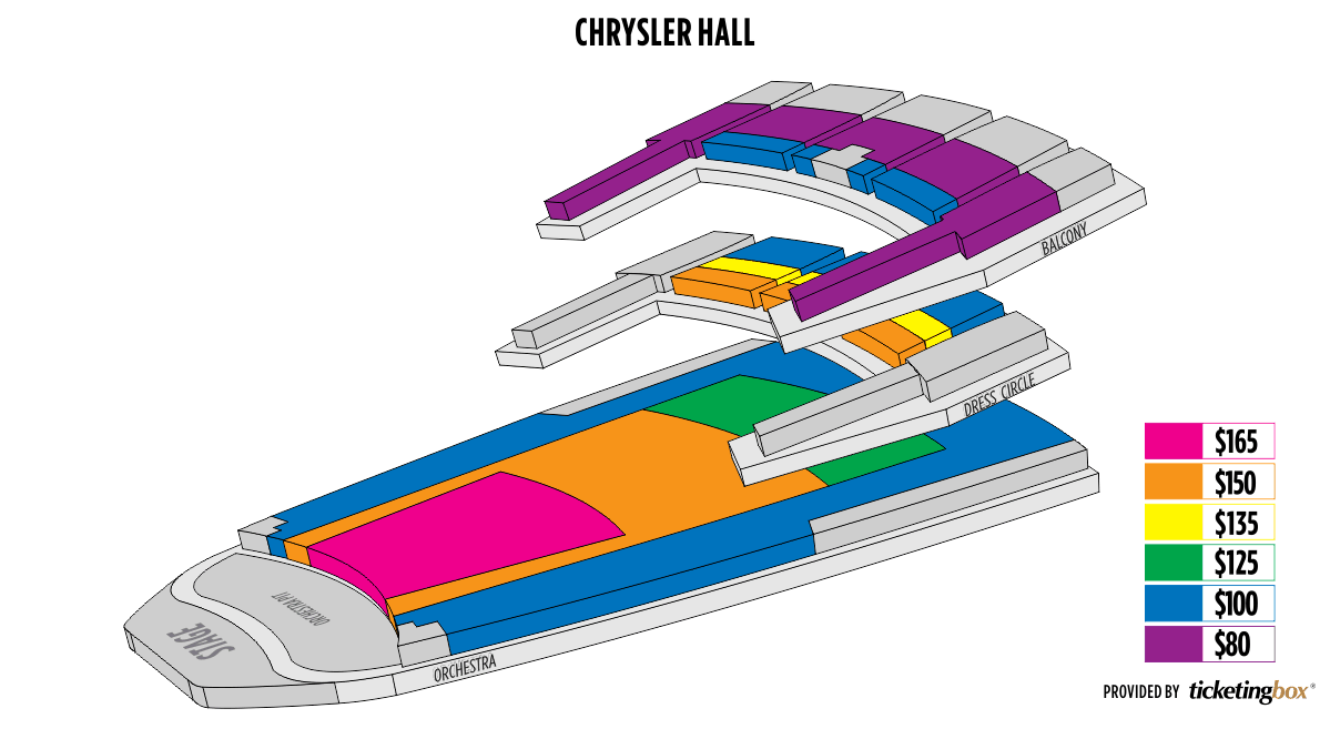 Norfolk chrysler hall seating chart