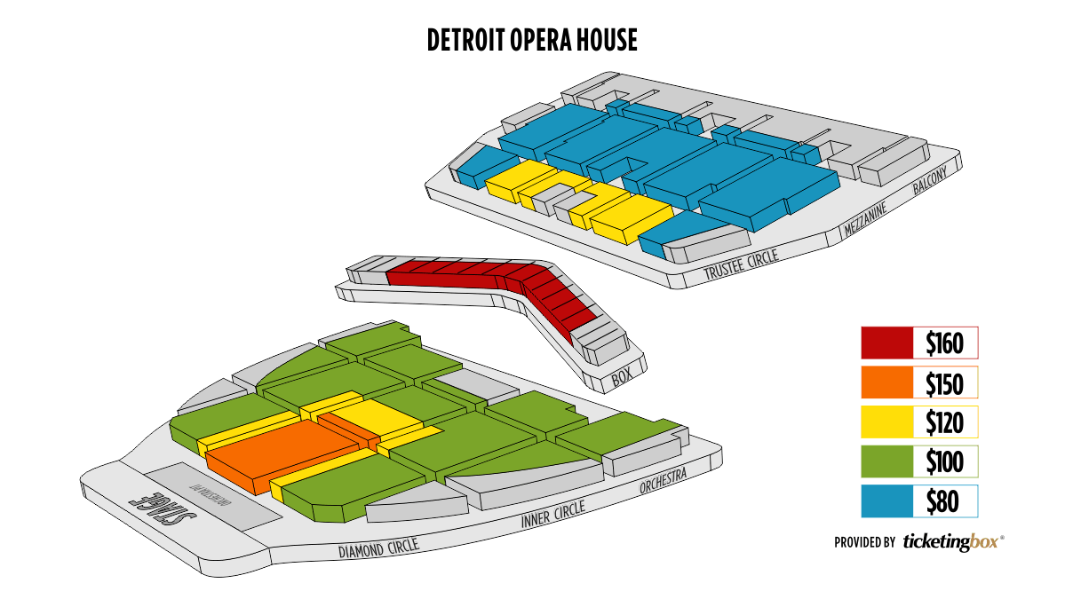 Detroit detroit opera house seating chart