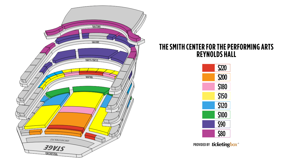 Las vegas the smith center for the performing arts seating chart