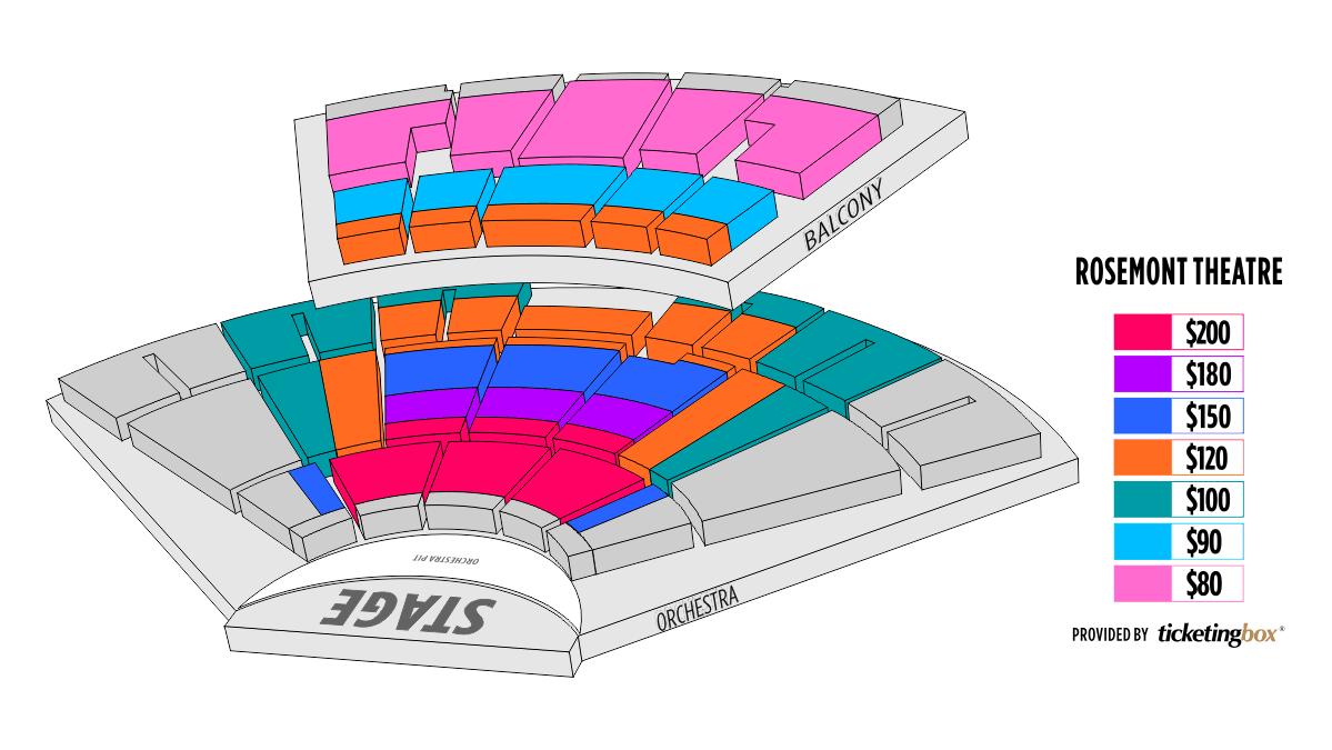 Rosemont rosemont theatre seating chart