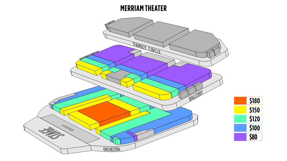 Philadelphia Merriam Theater Seating Chart