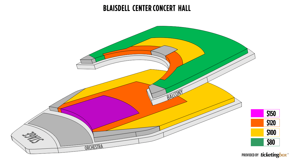 Honolulu Blaisdell Concert Hall Seating Chart