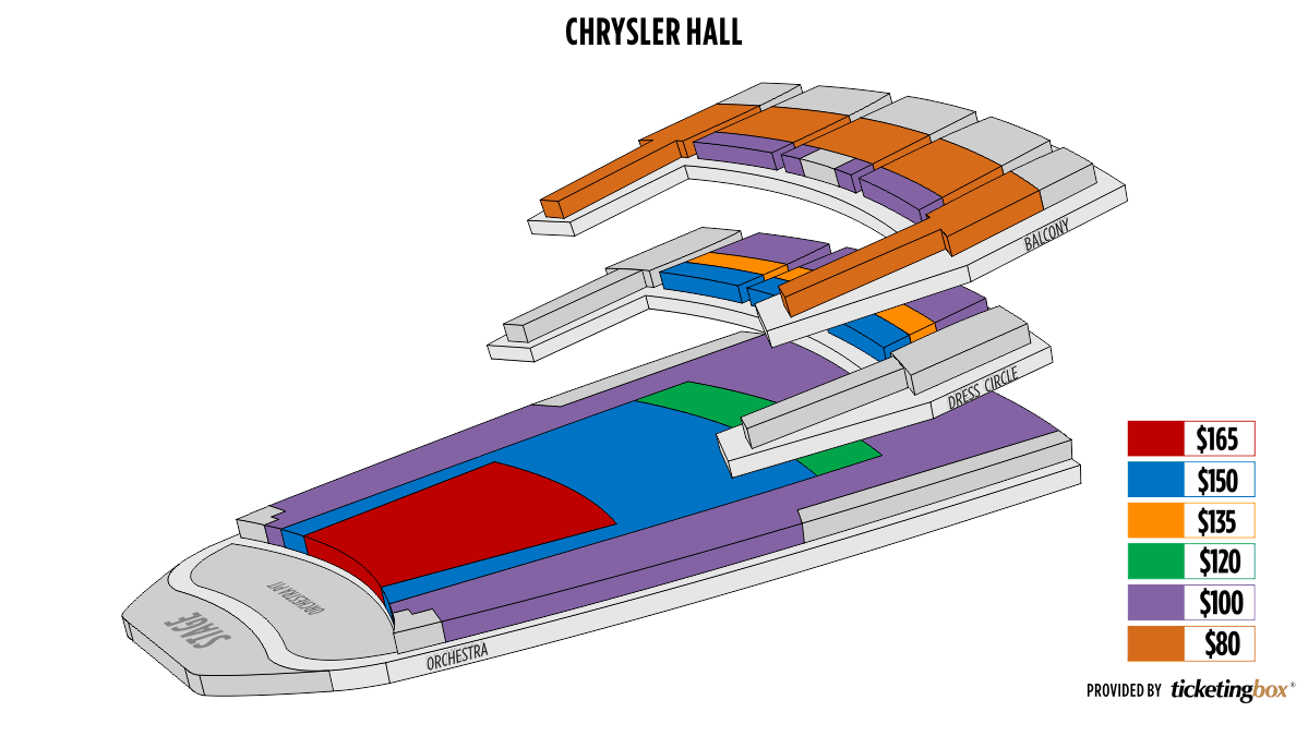 Norfolk chrysler hall seating chart