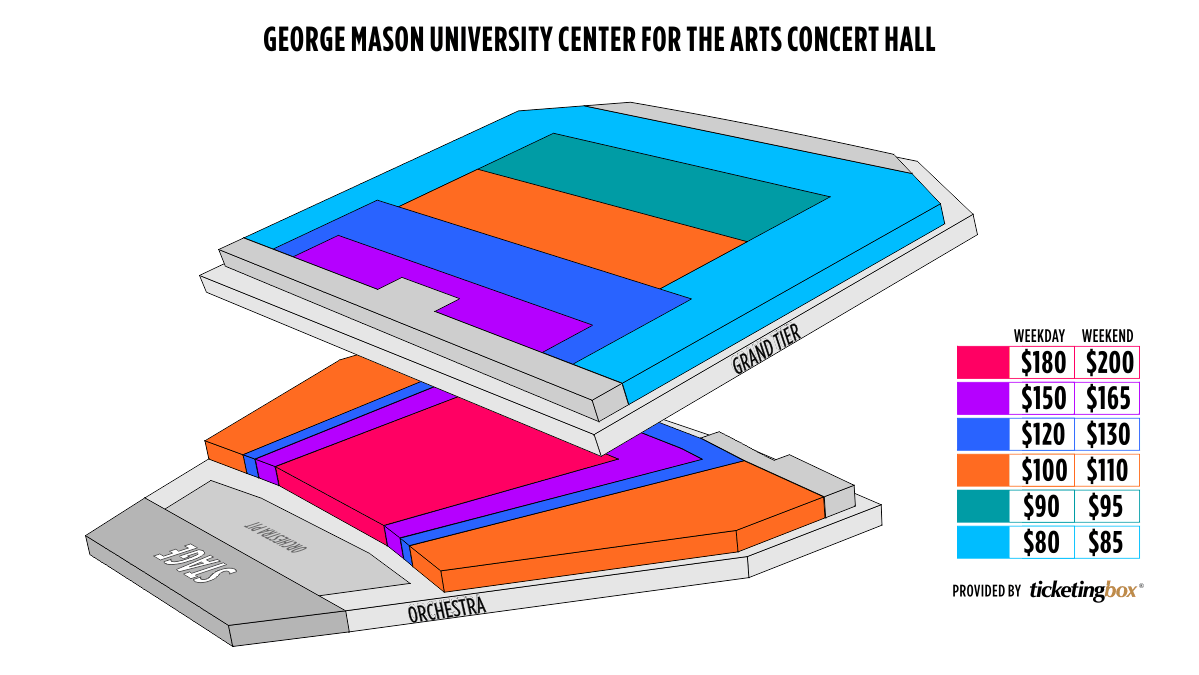 Shen Yun Fairfax George Mason University Center for the Arts Seating Chart