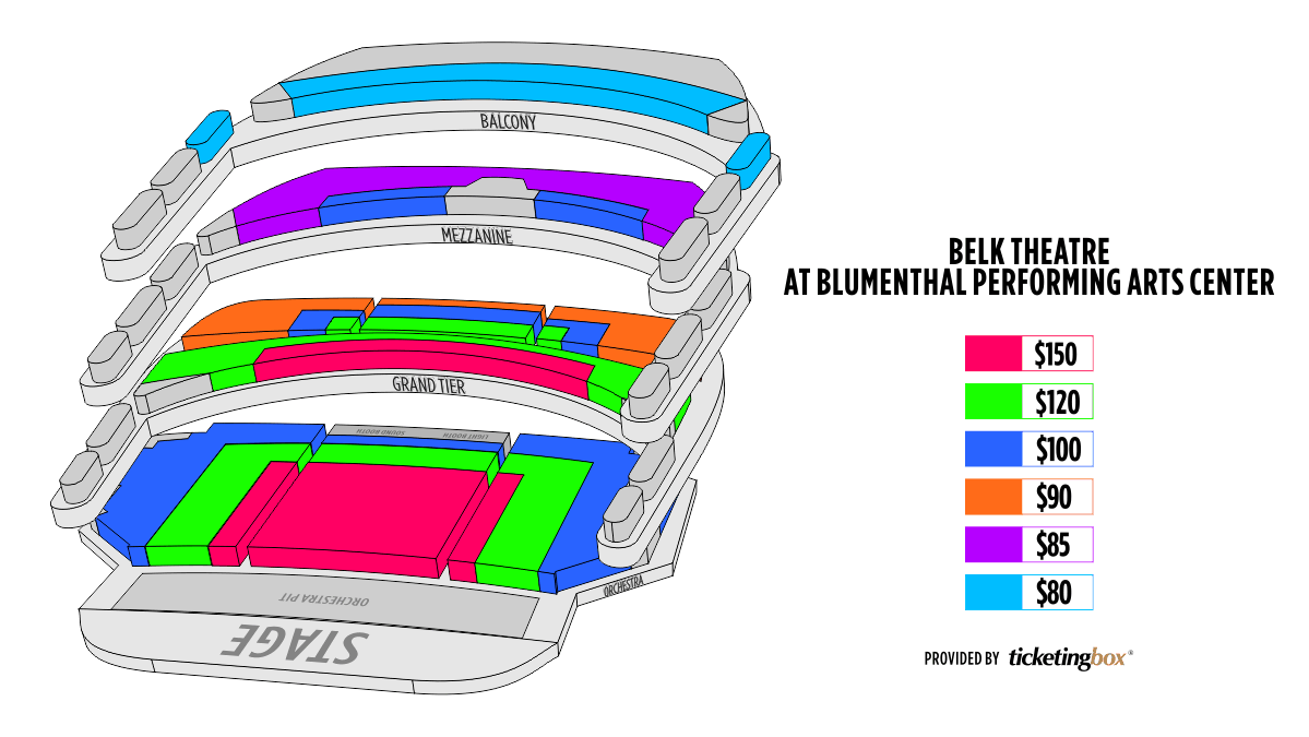 Shen Yun Charlotte Belk Theater at blumenthal performing arts center Seating Chart