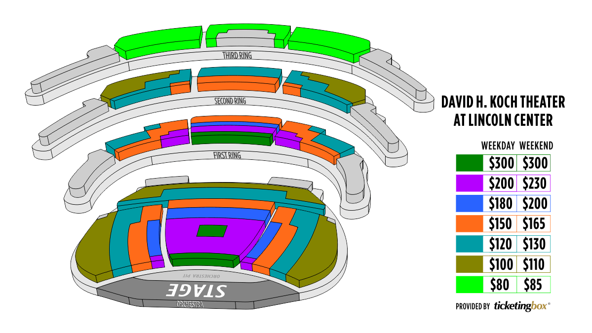Shen Yun New York City The David H. Koch Theater <br>At  Lincoln Center Seating Chart
