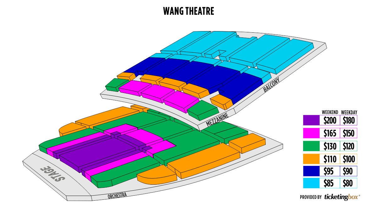 Shen Yun Boston 博赫王安剧院 Seating Chart