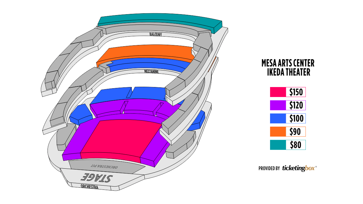 Shen Yun Mesa Ikeda Theater at Mesa Arts Center Seating Chart