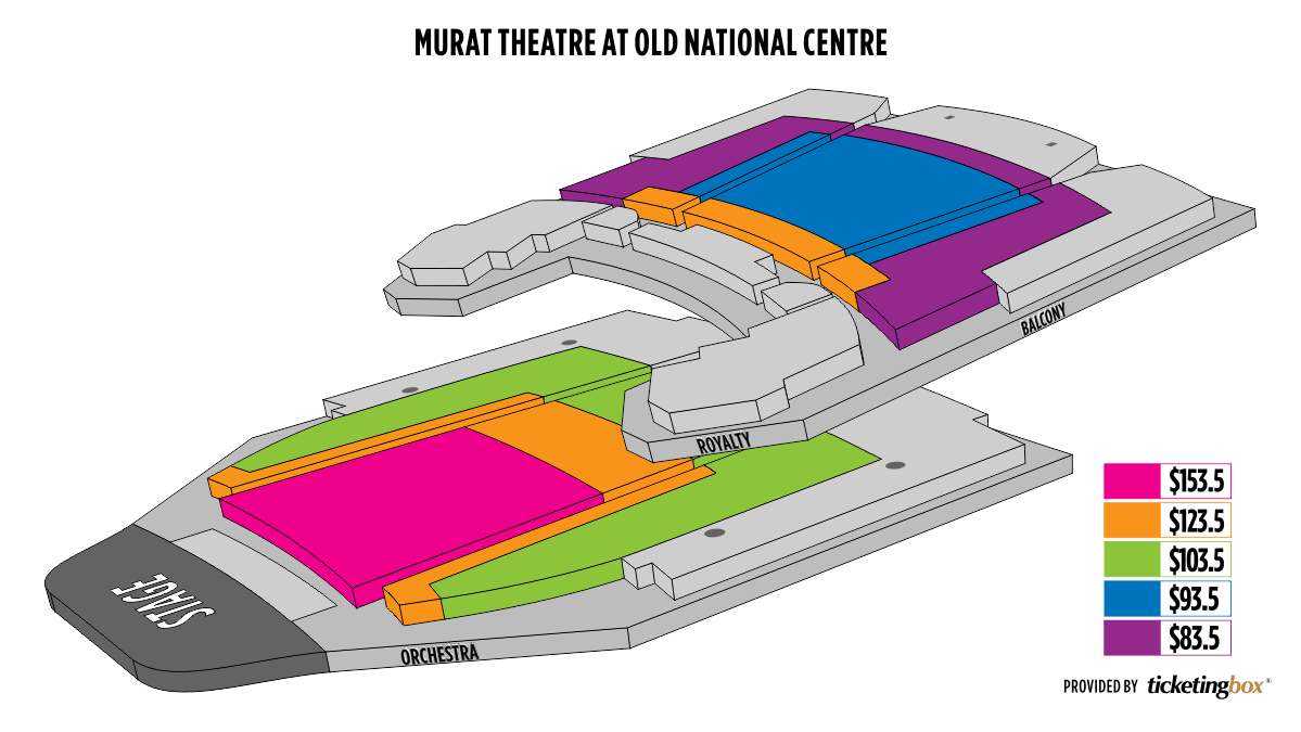 Indianapolis Old National Centre Murat Theatre Seating Chart