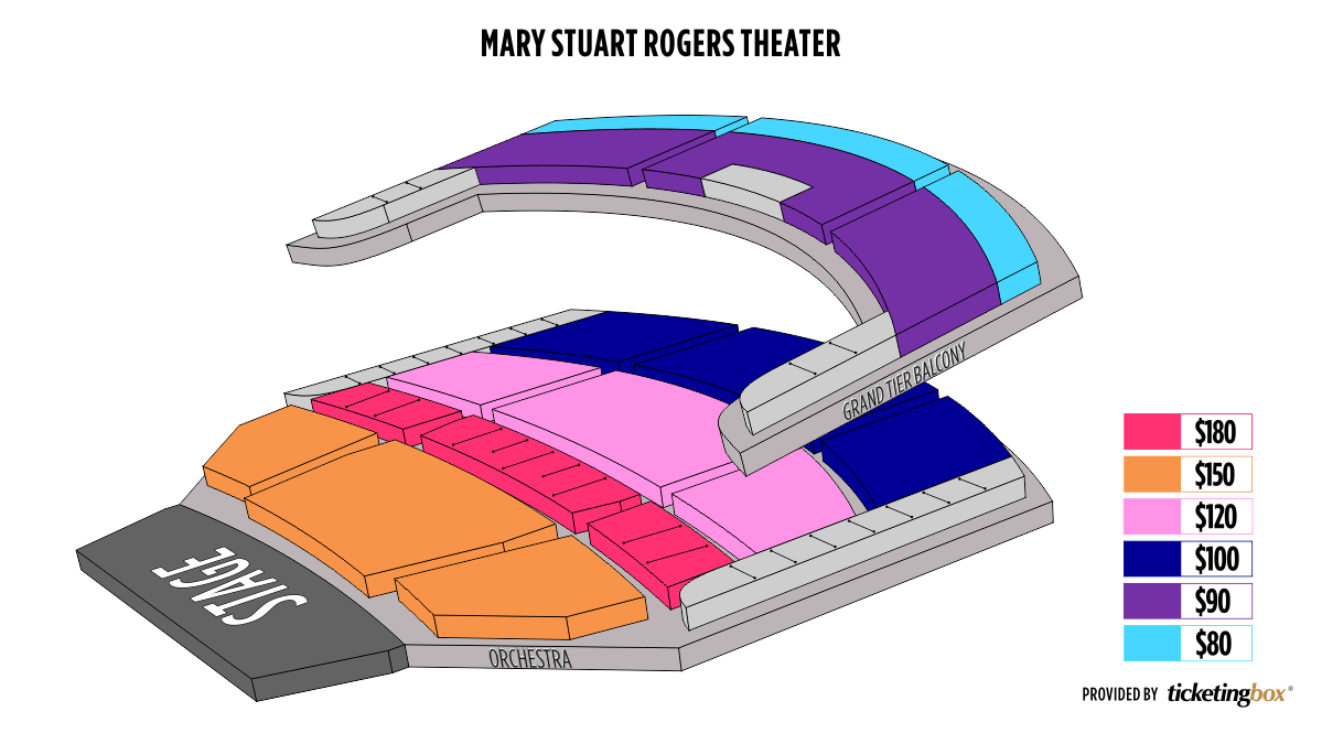Shen Yun Modesto Gallo Center for the Arts – Mary Stuart Rogers Theater Seating Chart