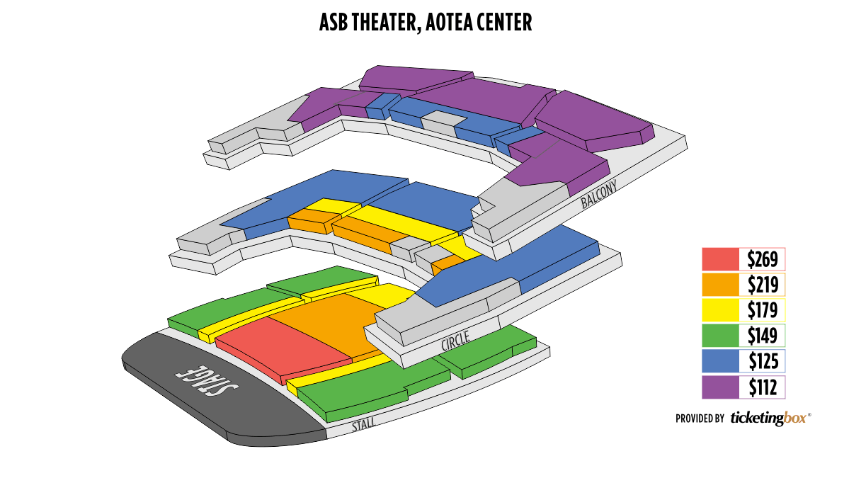 Shen Yun Auckland Kiri Te Kanawa Theatre (Formerly ASB Theatre) Seating Chart