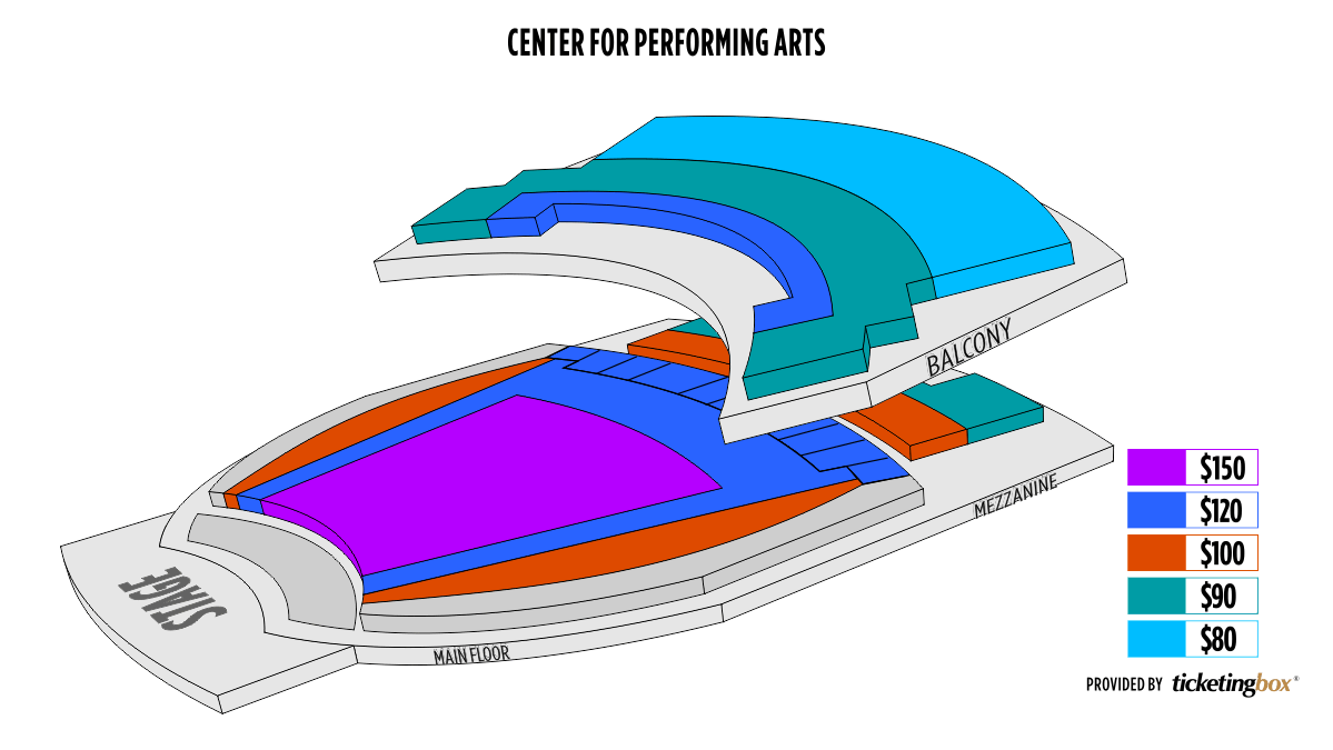 Shen Yun University Park Center for Performing Arts at Governors State University Seating Chart