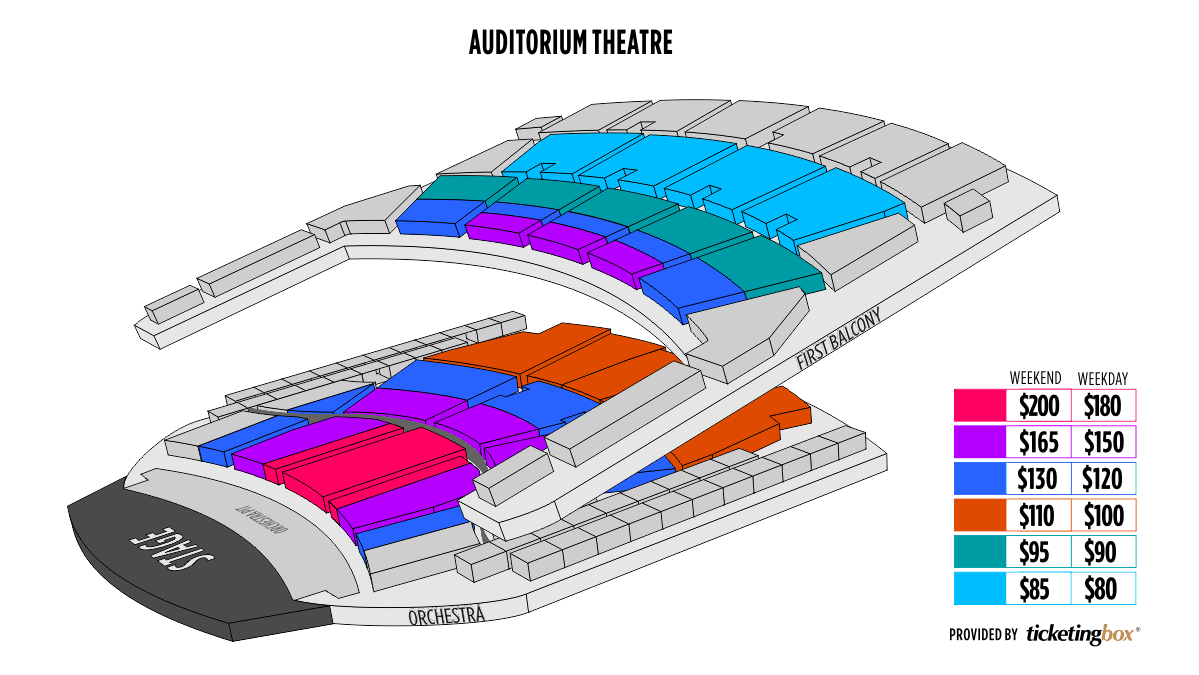 Shen Yun Chicago Teatro Auditorium Seating Chart