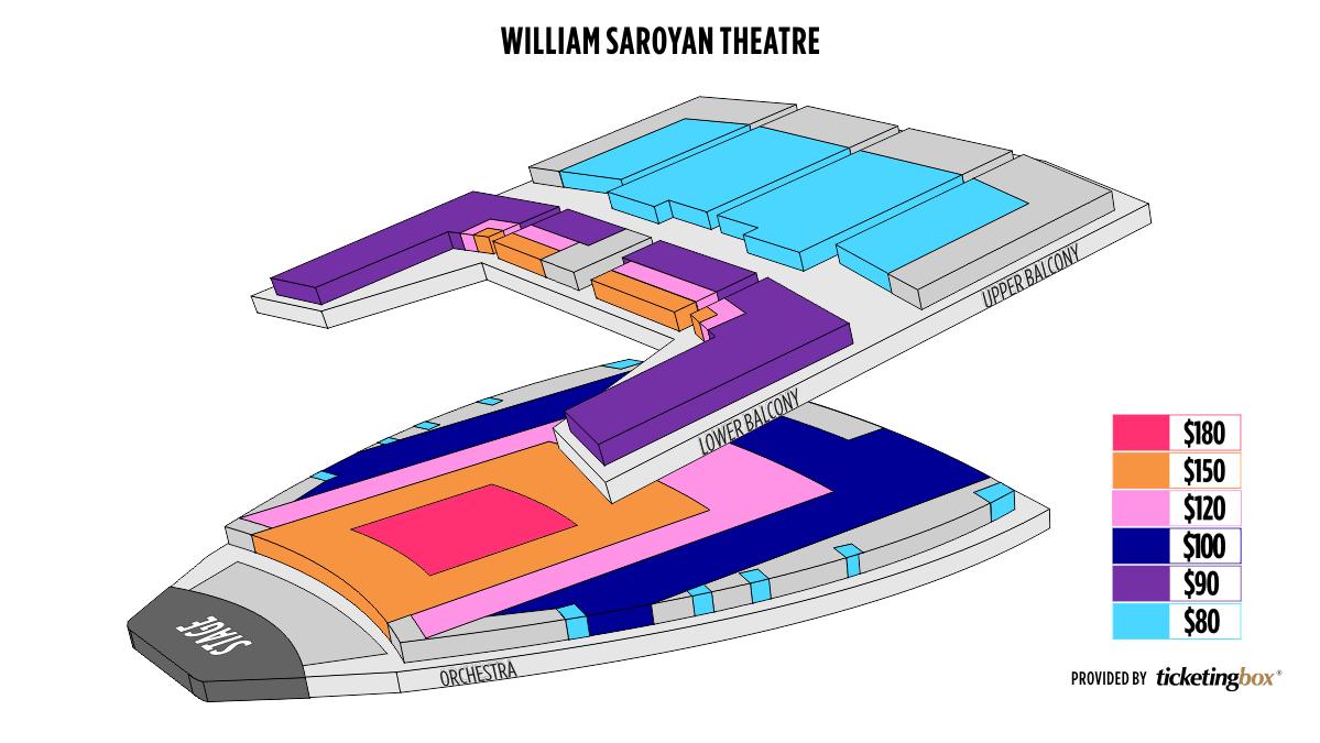 Shen Yun Fresno William Saroyan Theatre Seating Chart