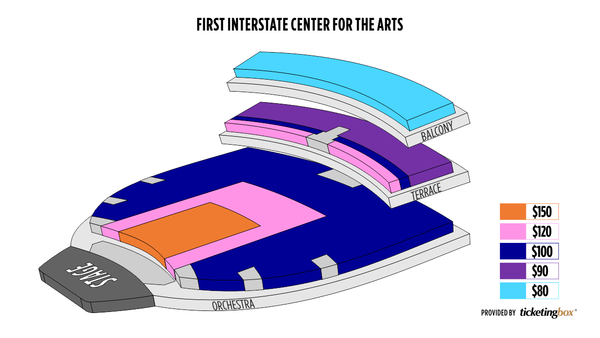 Shen Yun Spokane First Interstate Center for the Arts Seating Chart