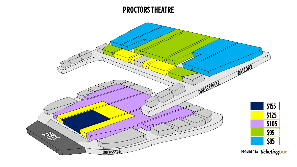 Albany Schenectady Proctors Theatre Seating Chart