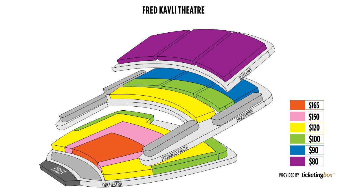 Shen Yun Thousand Oaks 千橡文娛藝術廣場 - 弗雷德Kavli劇院 Seating Chart