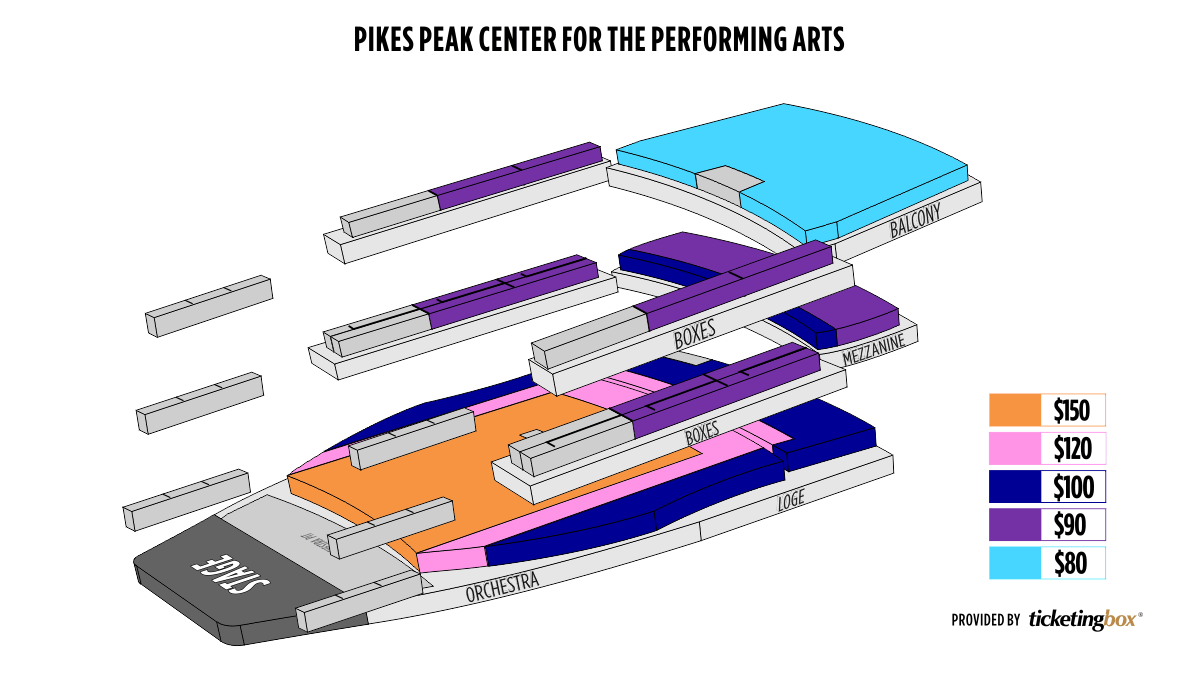 Shen Yun Colorado Springs Pikes Peak Center for the Performing Arts Seating Chart