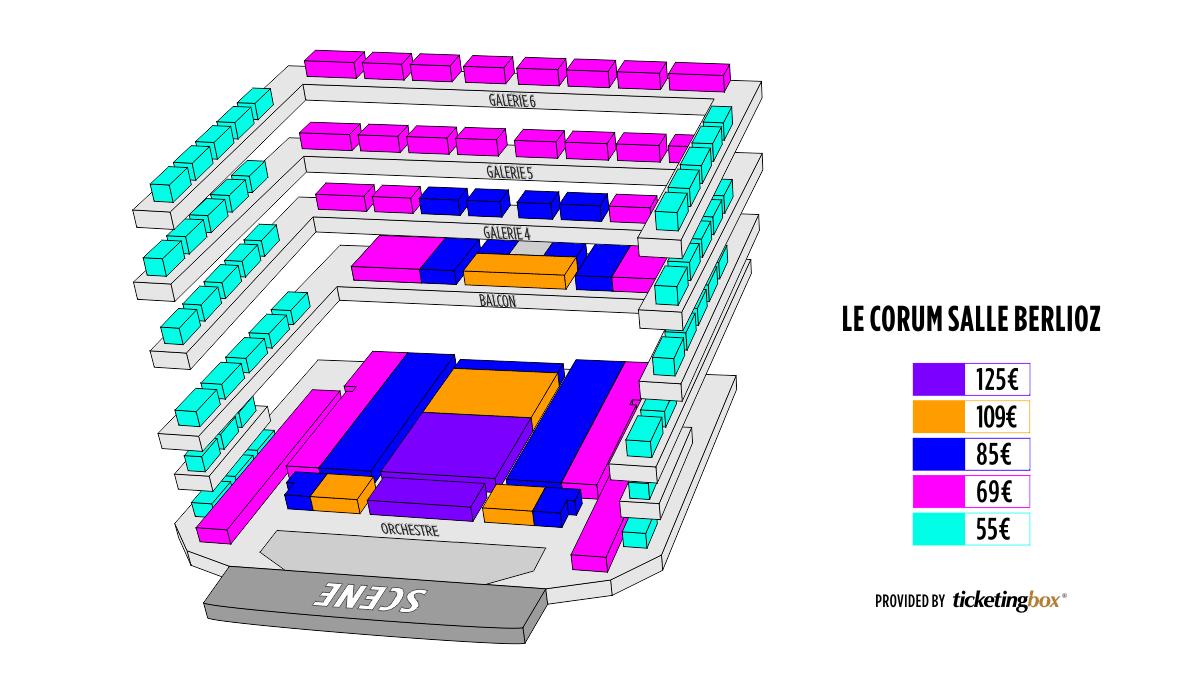 Shen Yun Montpellier Le Corum, Opéra Berlioz Seating Chart