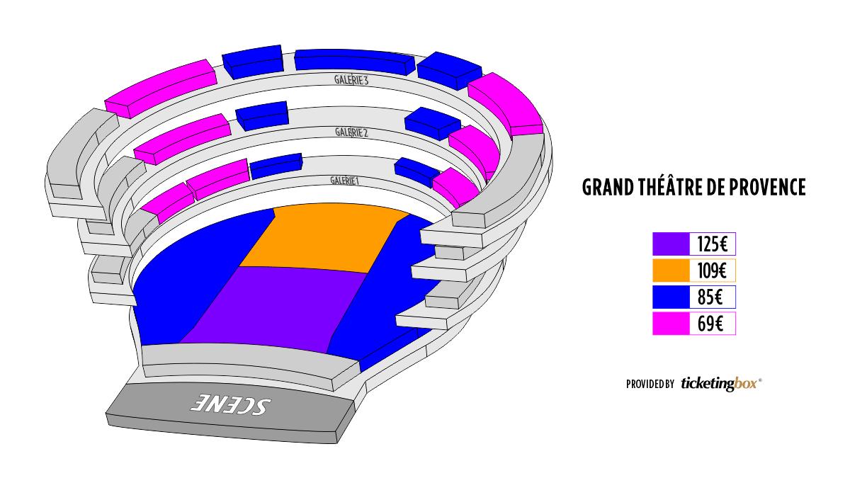 Shen Yun Aix-en-Provence Grand Théâtre de Provence Seating Chart