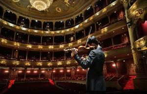 Violinist Steven Song practicing on stage at the Philadelphia Academy of Music. (photo by violist Jack Wang) The Philadelphia Academy of Music, where Shen Yun's Touring Company performed. (photo by violinist Hirofumi Kobayashi) Stephanie Guo adjusting zoom at the San Francisco War Memorial Opera House, where Shen Yun's World Company performed. (photo by dancer Lily Wang) Dancers Joe Huang, Yuan Ming, and Jun Liang at San Francisco City Hall. (photo by dancer Jun Liang) Dancer Yuan Ming in San Francisco. (photo by dancer Jun Liang) Principal Dancer Lily Wang taking a picture In San Francisco. (photo by dancer Songtao Feng) Dancer Antony Kuo warming up before a performance at the San Francisco War Memorial Opera House. Shen Yun's World Company wrapped up seven shows in six days in front of full audiences at the landmark theater. Principal Dancer Rocky Liao practicing a butterfly kick. (photo by dancer Songtao Feng) Dancer Suzuki Rui intimidating his enemies mid-air. (photo by dancer Songtao Feng) Andy Shia La-Buff. (photo by dancer Songtao Feng) Me. (photo by dancer Songtao Feng) Antony Kuo. (photo by dancer Songtao Feng) World Company's Vina Lee working with principal dancer Lily Wang. (photo by dancer Songtao Feng) Halfway through our journey to the west. (photo by dancer Ben Chen) Dancers Andy Shia and Ben Chen, as well as oboist Torsten Trey face the dilemma of the year's very first truck loading. How do you get everything to fit? Don't worry, eventually they somehow did. (photo by Jun Liang)