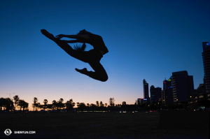 Silhouettes en Australie. Ici, la danseuse Stephanie Guo. (Photo par la danseuse Daniella Wollensak)