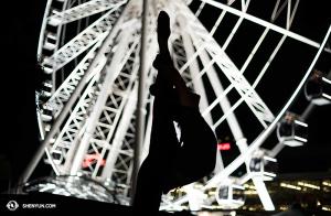 Główna tancerka Lily Wang przed the Brisbane Wheel. (fot. tancerka Stephanie Guo)