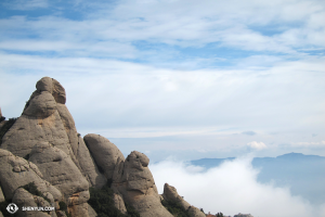 And a few more photos from the Montserrat mountains outside Barcelona. The rocks almost look like humans! (photo by dancer Daoyong Zheng)