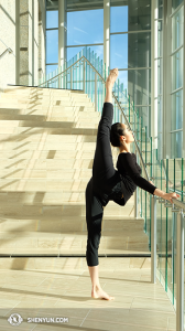 La première danseuse Angelina Wang. (Photo par la danseuse Nancy Wang)