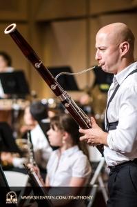 Fagotista Jan Urbanowicz se připravuje v Yuanlin Performance Hall v tchajwanské provincii  Changhua.