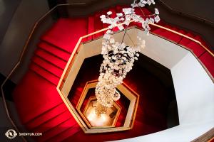 Das gesamte Design des National Arts Centre basiert auf Sechsecken, von der Gestaltung des Bodens über das Logo bis zum Treppenhaus. (Handelt es sich immer noch um Fibonacci-Spiralen, wenn sie aus Sechsecken bestehen?) (Foto: Ben Chen und Jeff Chuang)