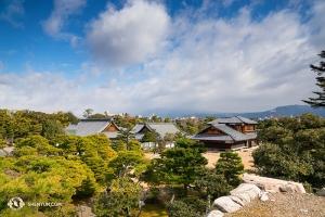 Pemandangan dari Kastil Nijo di Kyoto. (Foto oleh Kenji Kobayashi)