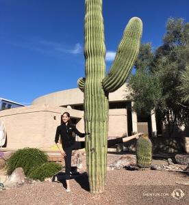 Vraiment supplémentaires. La danseuse Hannah Rao et le cactus. (Photo d'Annie Li)