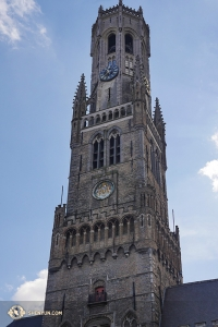 In spite of having only a quick two-day, two-performance run, a few of the dancers still got a chance to take in the picturesque city. A clock tower in the Bruges' market place. (Photo by Jun Liang)