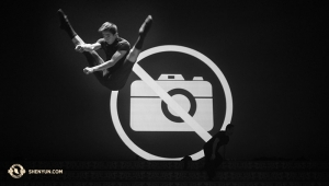 Principal Dancer Rocky Liao and photographer-dancer Songtao Feng break more than one rule with this pre-show photo.