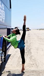 Ed ecco la ballerina principale Kaidi Wu, questa volta di fronte alla fotocamera