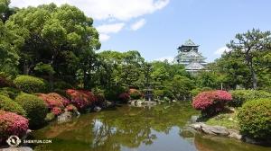 Częściowo powtarzając trasę tournée Shen Yun odwiedził japoński zamek Ōsaka… (fot. tancerz Daren Chou)