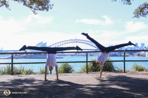 Being in Sydney with so much sunshine can make dancers pretty happy. (Photo by dancer Nick Zhao)