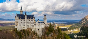 When passing through Germany, the company got to visit the palace that inspired Disney's famous Cinderella castle—the Neuschwanstein Castle, literally