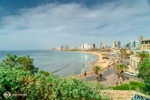 Następnie artyści zwiedzali Tel Awiw i stare miasto Yafo (Jaffa). (fot. Kenji Kobayashi)