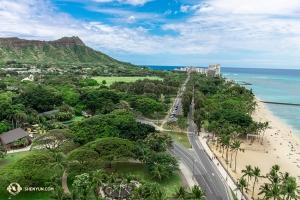 美麗的夏威夷風光。(攝影:舞蹈演員馮岳超)