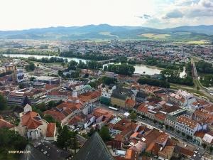 Superbe vue de Trenčín.