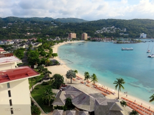 For violist Rachel Chen, spending five months in relatively cold places this tour meant it was time to head somewhere tropical for vacation. Behold the view of Ocho Rios, Jamaica from her resort.