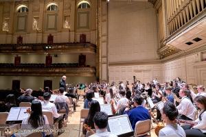Per il sesto anno consecutivo, siamo tornati alla Boston Symphony Hall che, con la sua bellissima architettura e un'acustica eccellente, è uno dei luoghi preferiti dai nostri orchestrali