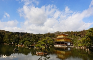 Dancer Jeff Chuang joins the others to capture this view of the Golden Pavilion from a distance. (Photo by Jeff Chuang)