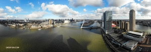 A panoramic view of Rotterdam on a sunny day. (Photo by Andrew Fung)