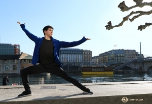 Dancer Jared Ren presents the Rhône River—one of the most well-known waterways in Europe. (Photo by Nick Zhao)