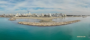 Panorama Montpellier od strony morza, Francja. (Andrew Fung)